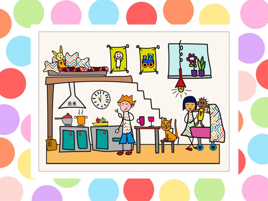 illustratie huishoek