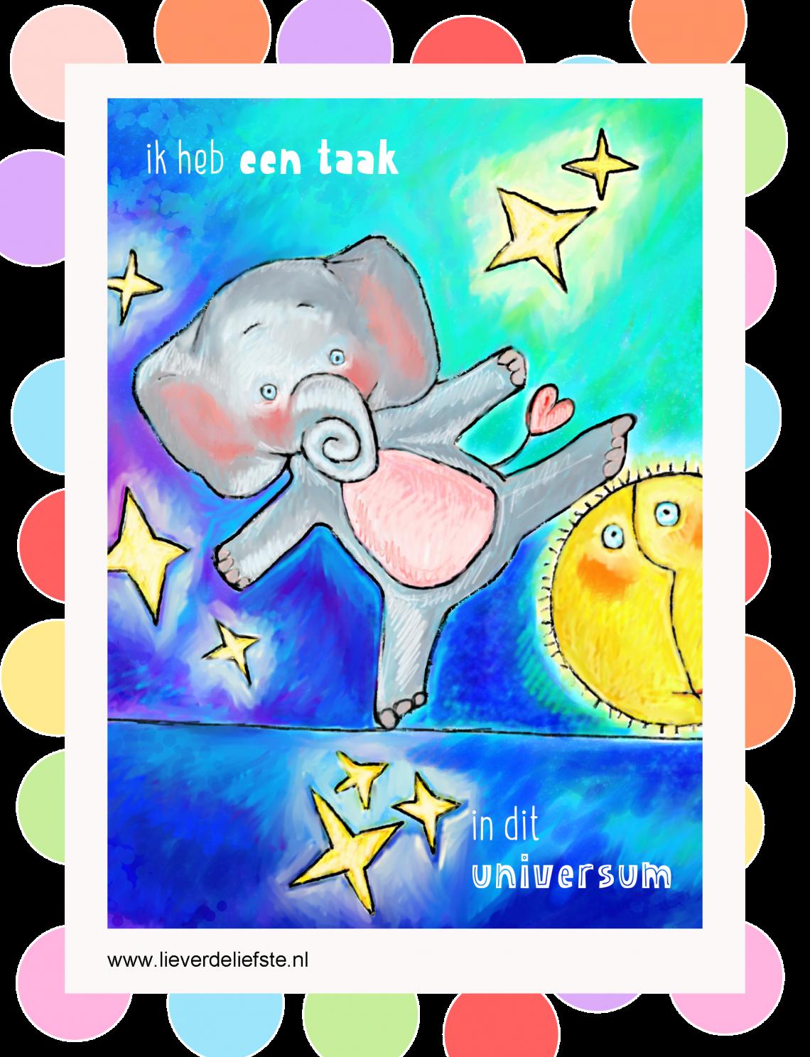 Mini Poster Olifant