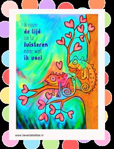 Mini Poster kameleons