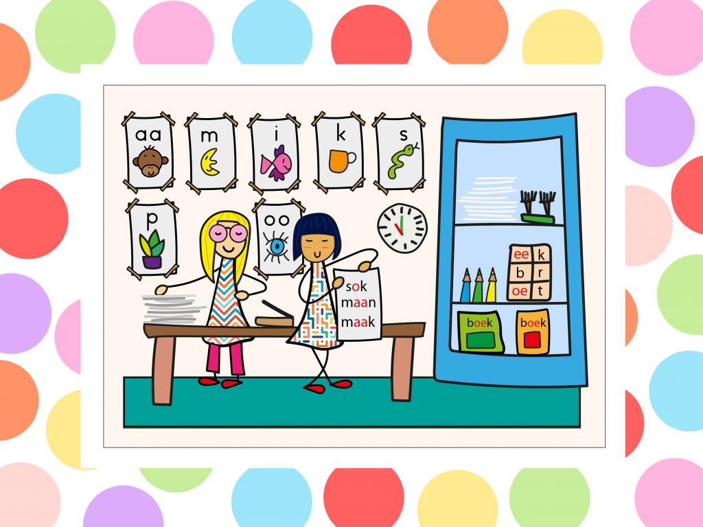 illustratie lees en schrijf - hoek