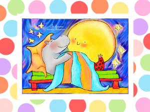 """Illustratie beloningskaart """"mooie dromen"""""""